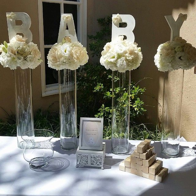 Best 25 baby shower centerpieces ideas on pinterest baby shower decoration - Idee deco baby shower ...