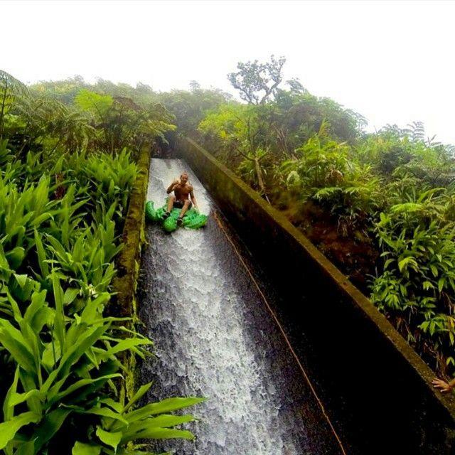 Flume Slide Big Island