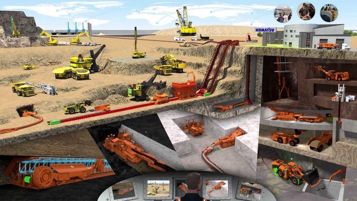 Komatsu Mining Map of Operations