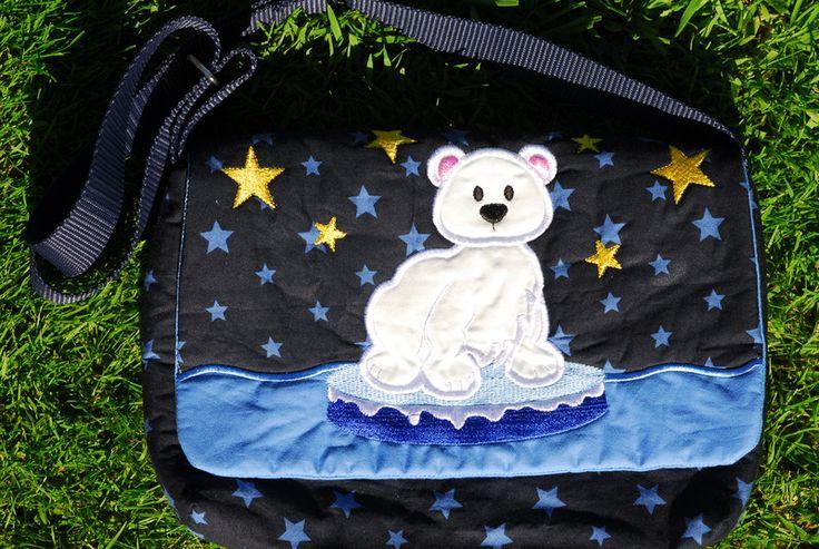 """Kindergartentaschen - Kindergartentasche """"Kleiner Eisbär"""" - ein Designerstück von indiviDU bei DaWanda"""