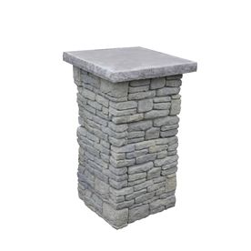 Nantucket Pavers�Gray Variegated Pillar With Flat Cap Patio Block Project Kit $238