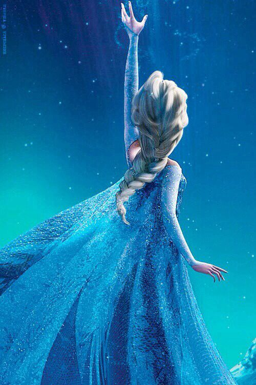 Frozen. This picture is perfection. [Can I please just BE Elsa? I'm halfway there...Just gimme the snow powers  it'd be perfect...]