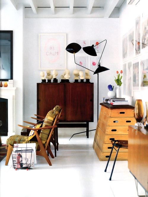 { Iconic Serge Mouille floor lamp }