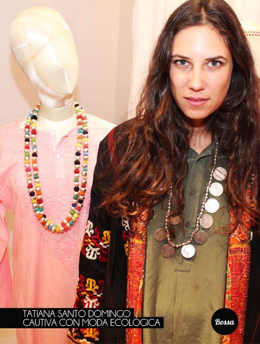 Tatiana Santo Domingo cautiva con moda ecológica.