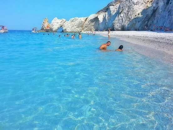 One of the most beautiful beaches in Greece.  Lalaria beach, Skiathos Island.