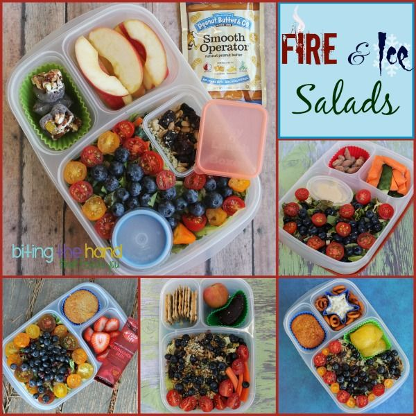 """Colorful """"grown-up"""" salads for work or on-the-go!"""