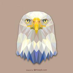 Projeto triângulo águia Vetor grátis