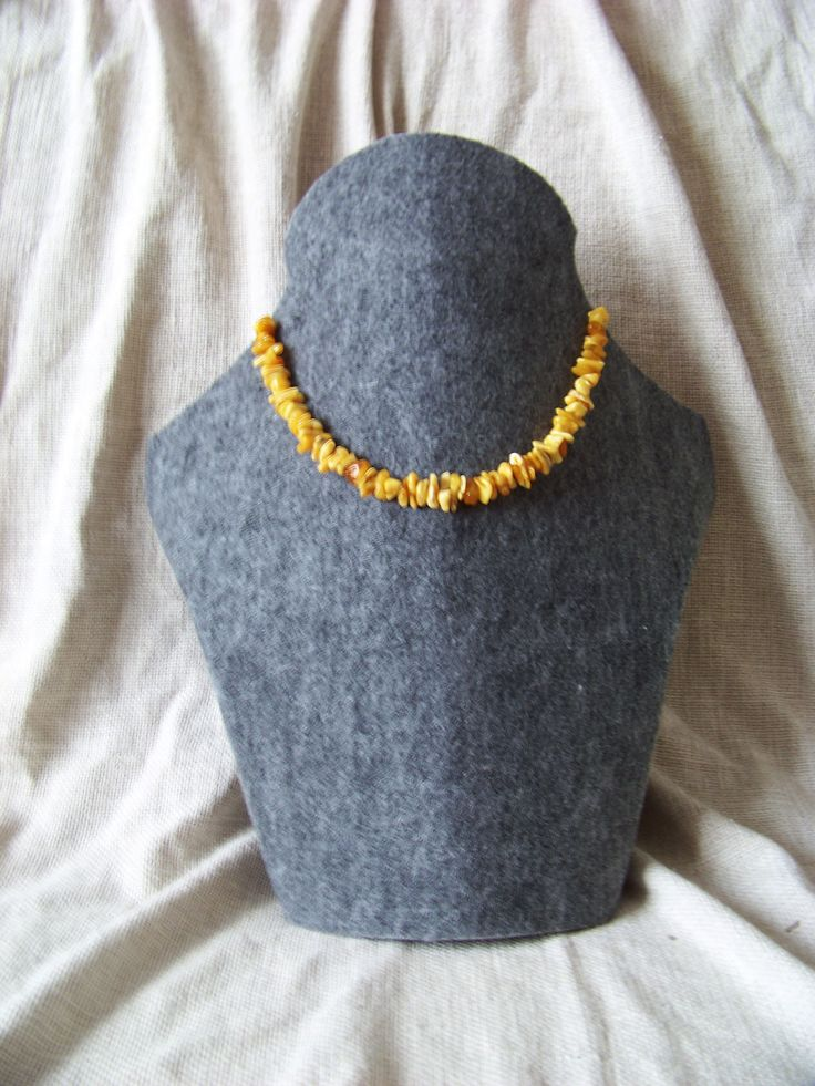 Slavic amber necklace. Light baltic amber - class: Ia.