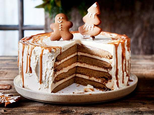 Lebkuchentorte Mit Karamellcreme Rezept Leckere Torten Kuchen Und Torten Und Kuchen Ohne Backen