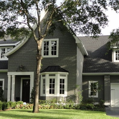 Exterior gray design pictures remodel decor and ideas paint pinterest exterior colors for Benjamin moore historical colors exterior