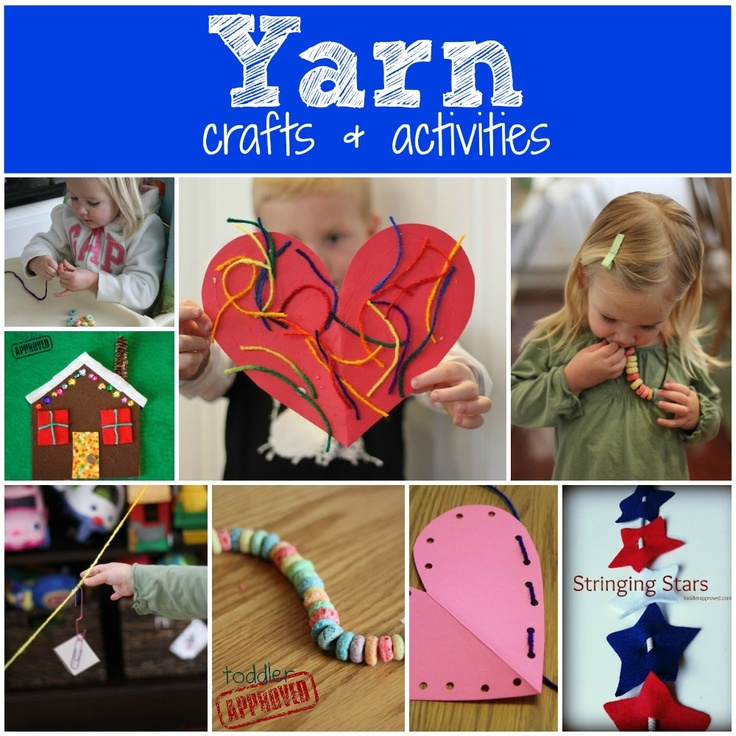 Toddler Approved!: The ABC's of Toddler Activities {U through Z}.Y is for yarn crafts & activities