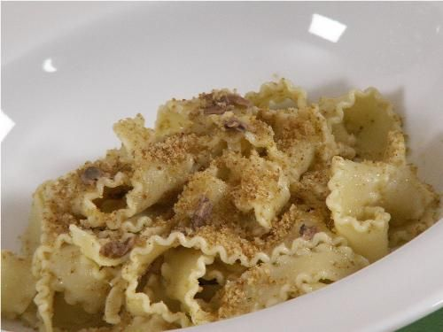 Anchovies & Bread Crumb Pasta  ~Mom used to make this.