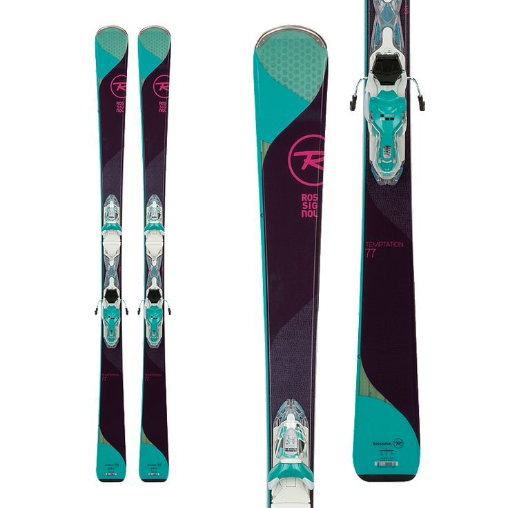 With the heart of a frontside carver and an easy freeride feel, the new TEMPTATION 77 is the all-mountain benchmark for intermediate skiers. Featuring Rossignol's most versatile blend of rocker and camber and their patented Air Tip technology, the Temptation 77 offers elevated all-mountain performance for easier progression across all snow conditions.