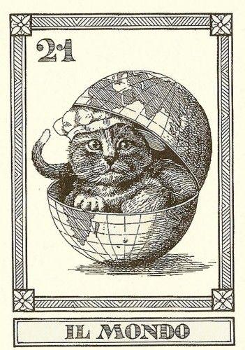 Cat Tarot Cards Feline Fortune Telling Il Gatti 4 Cards, 3 17 21 Matto