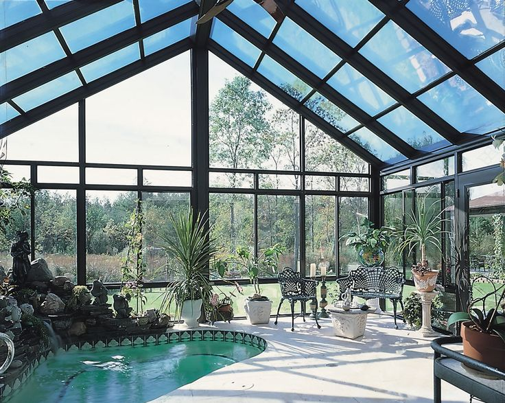Glass Roof Sunroom Or Patio Room With Aluminum Frame From