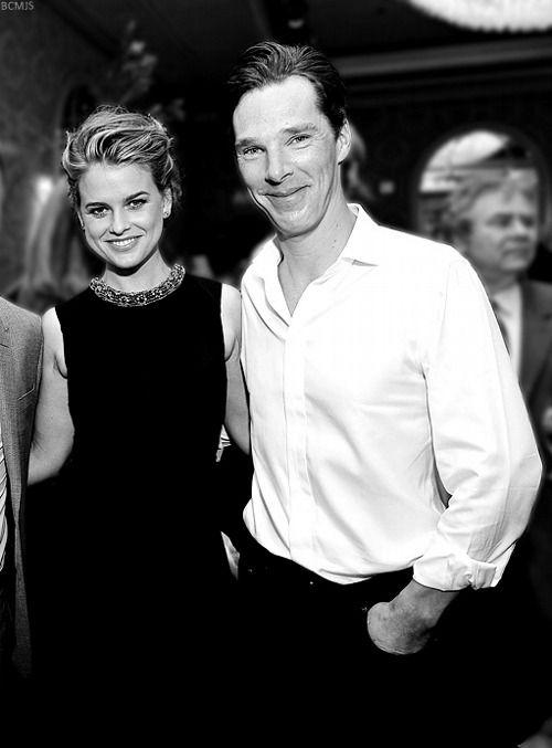 BAFTA Awards Season Tea Party LA, 2014. Benedict Cumberbatch with Alice Eve