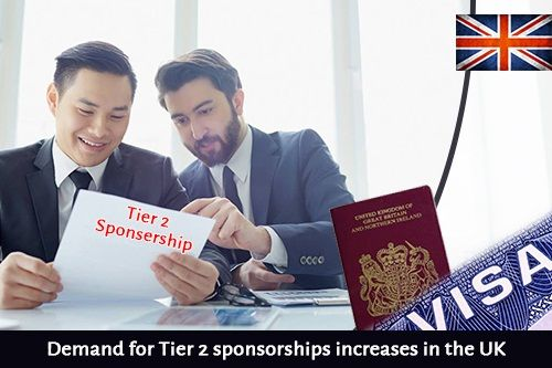 Demand for Tier-2 sponsorships increases in the UK