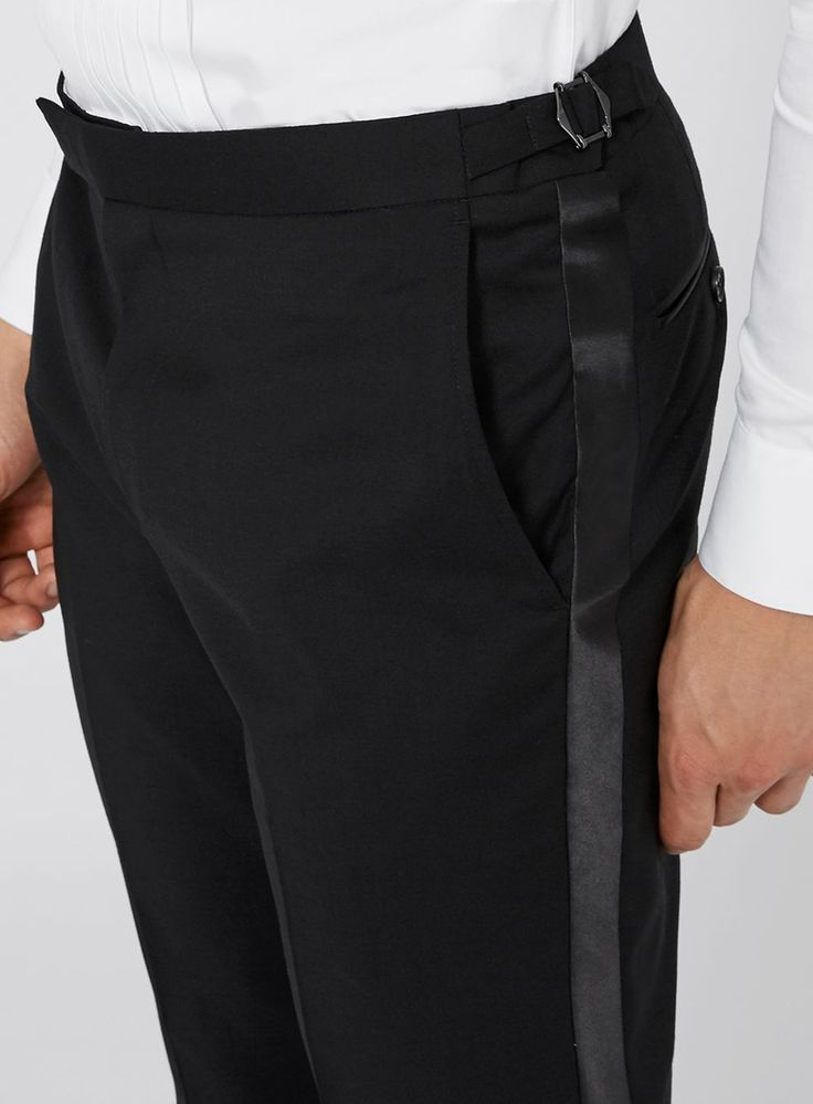 CHARLIE CASELY-HAYFORD X TOPMAN Black Occasion Suit Trousers - TOPMAN