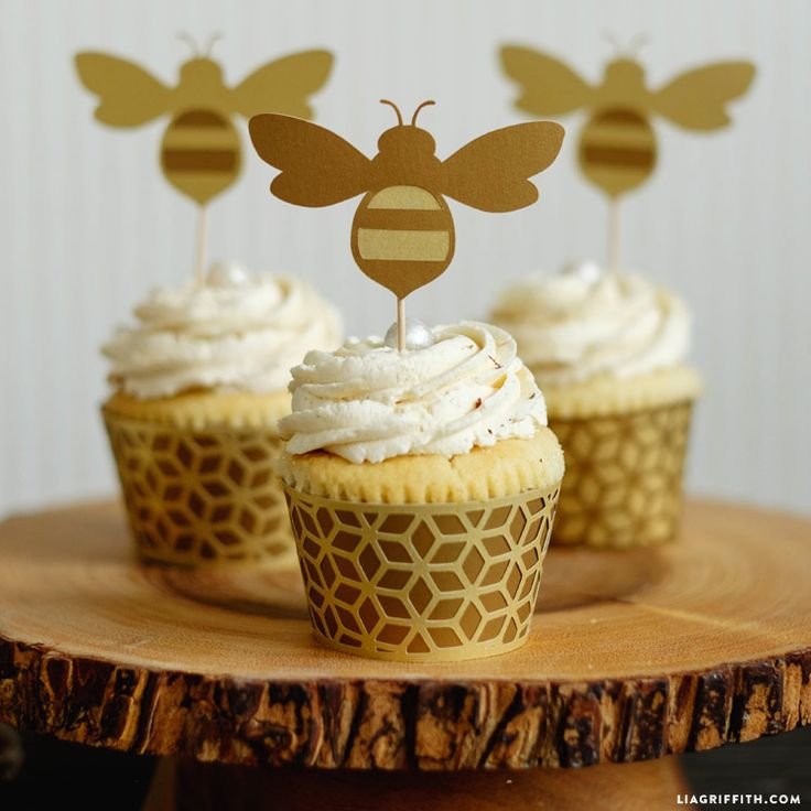 Honey Bee Cupcake Toppers