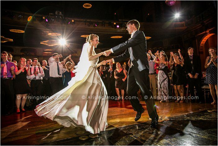 Fun shot of this couple during their first dance