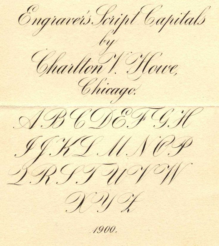 237 Best Copperplate Calligraphy Images On Pinterest