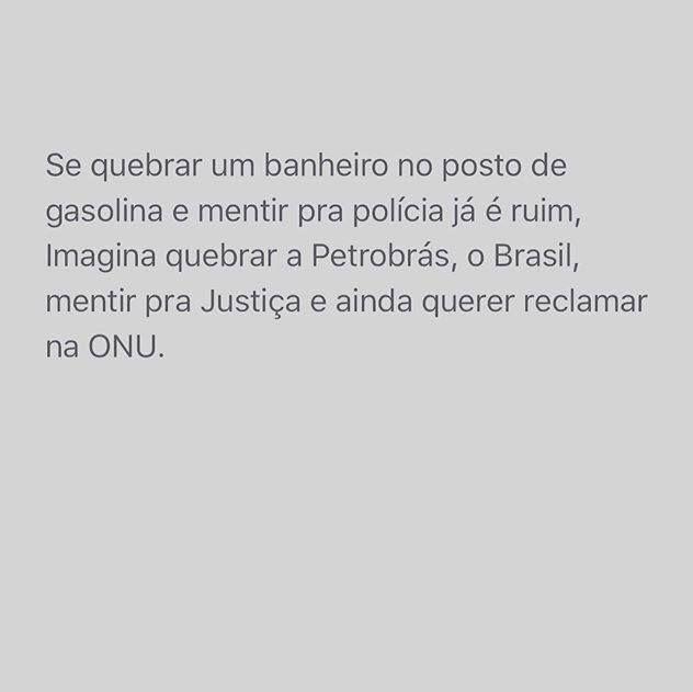 Brasil-Dilma Rousseff (Impeachment)-2016-Frase-Se quebrar um banheiro no posto de gasolina e mentir...