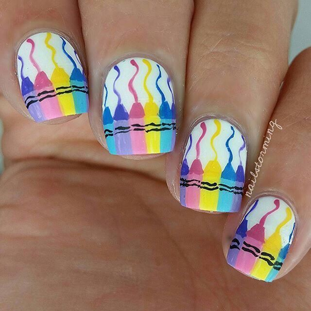 Cute Back To School Nails That Are To Die For #Beauty #Musely #Tip