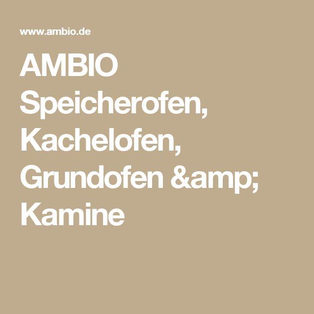 AMBIO Speicherofen, Kachelofen, Grundofen & Kamine