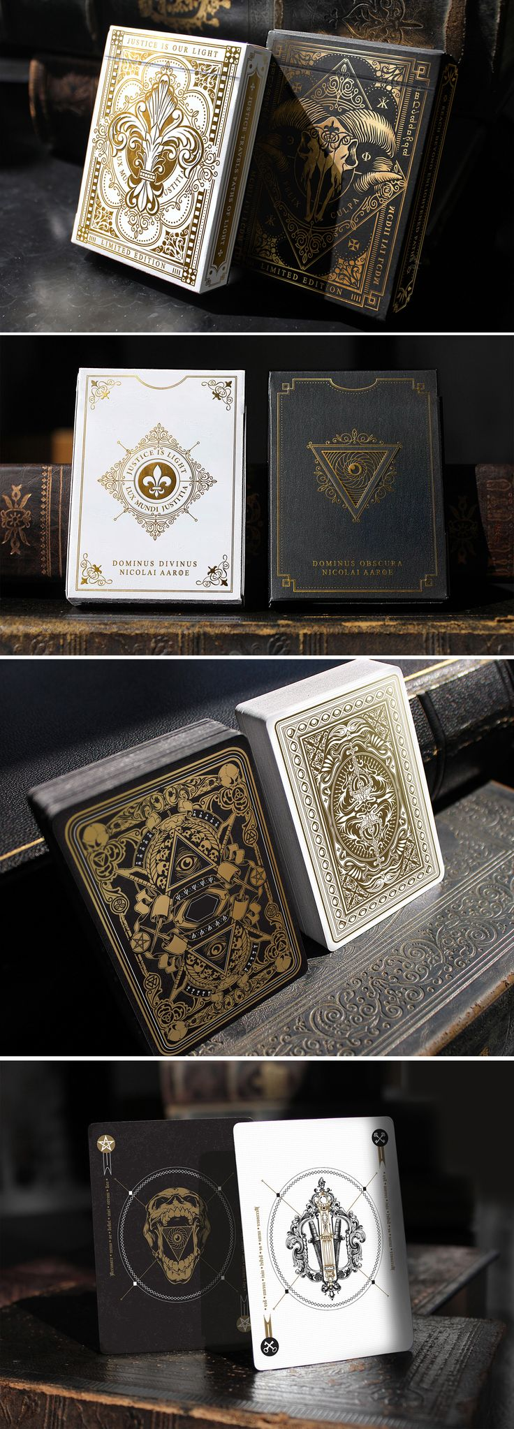 9da12d274e7d7a808545c77a815fc806  the darkness playing cards - Dominus Playing Cards by Nicolai Aarøe  2 limited ed. decks with deluxe feature...