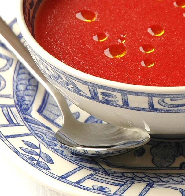 Sopa de sandía y tomate de Ferrán Adriá | Recetas con fotos paso a paso El invitado de invierno