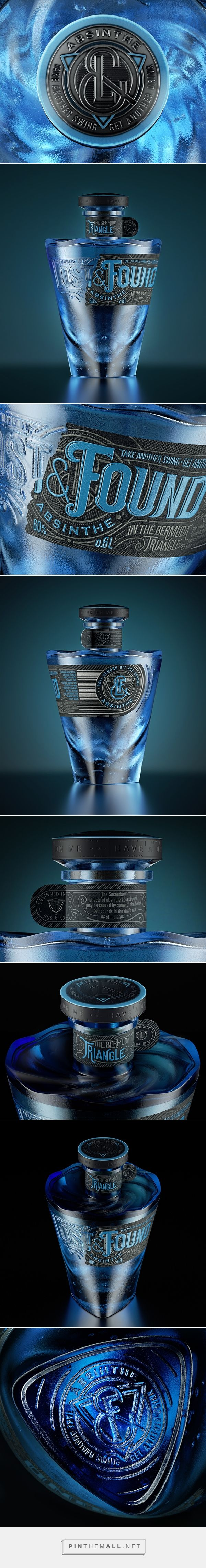 Lost&Found   Absinthe on Behance curated by Packaging Diva PD. How pretty is this absinthe packaging?