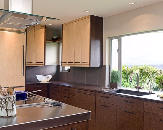 Compact Asian Kitchen Designw Ith Dark And Light Bamboo Cabinets Perfect  For Modern Urban Lofts Part 32