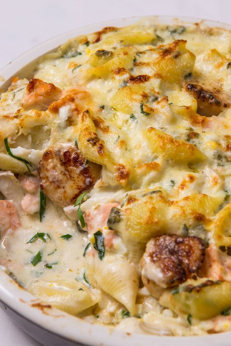 Galton Blackiston's conchiglie frutti di mare recipe has all the richness of a fish pie, yet with delicious conchiglie shells to hold the creamy pasta sauce in this delicious seafood pasta bake dish.