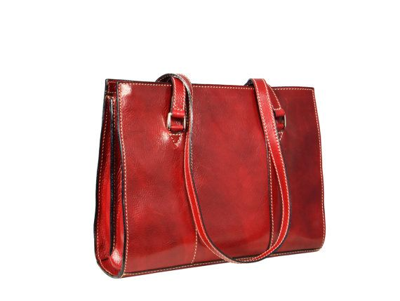 enuine Leather Tote Bag Leather Briefcase by TimeResistance