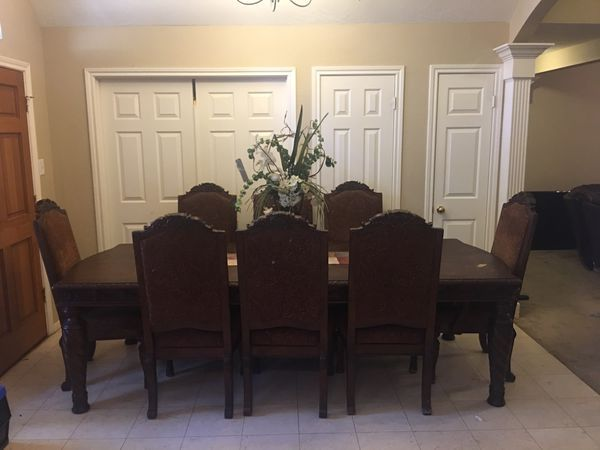 Beautiful Formal Dining Room Table Solid Wood 8 Chairs For Sale In