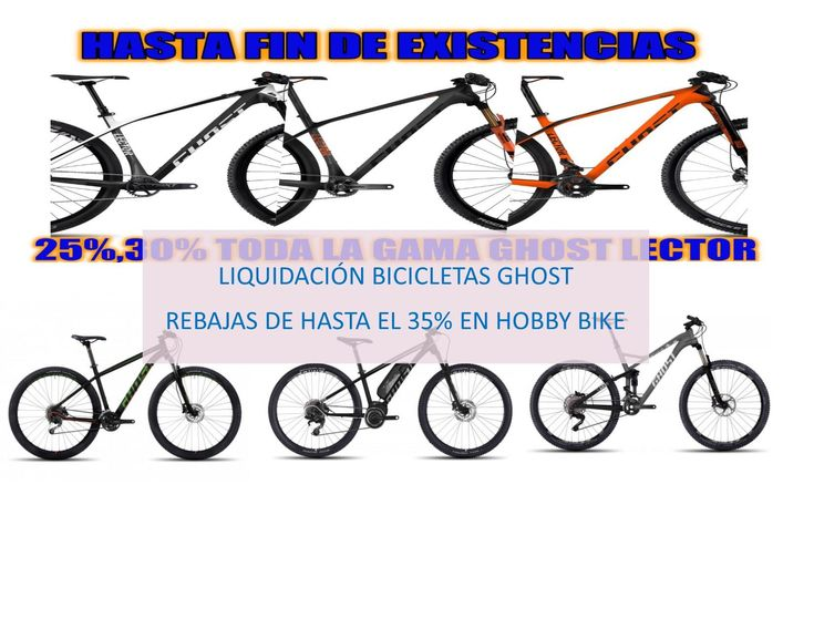 Liquidación bicicletas Ghost en Hobby-Bike