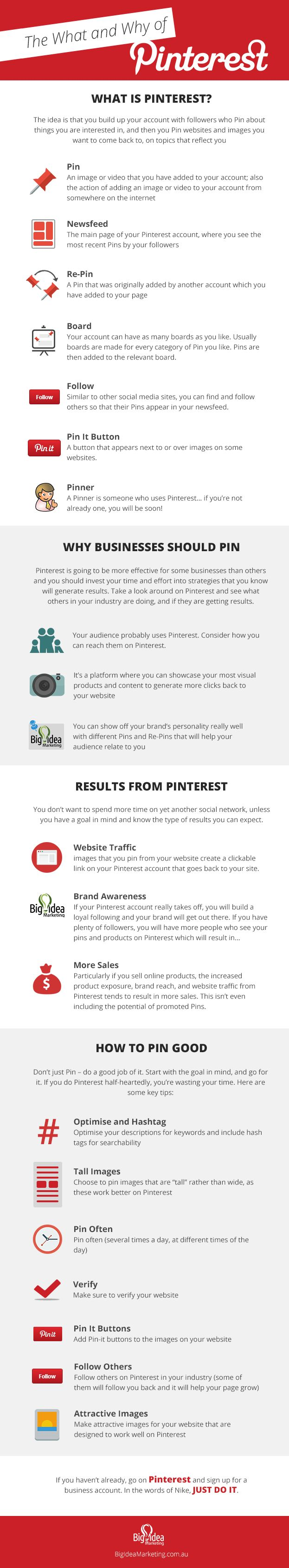 The What and Why of Pinterest for Business - #infographic #socialmedia #pinterest