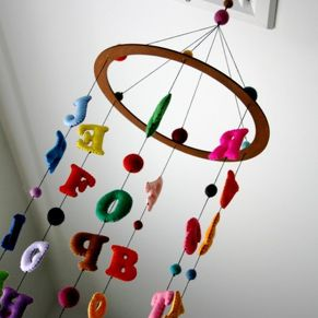 Alphabet nursery mobile