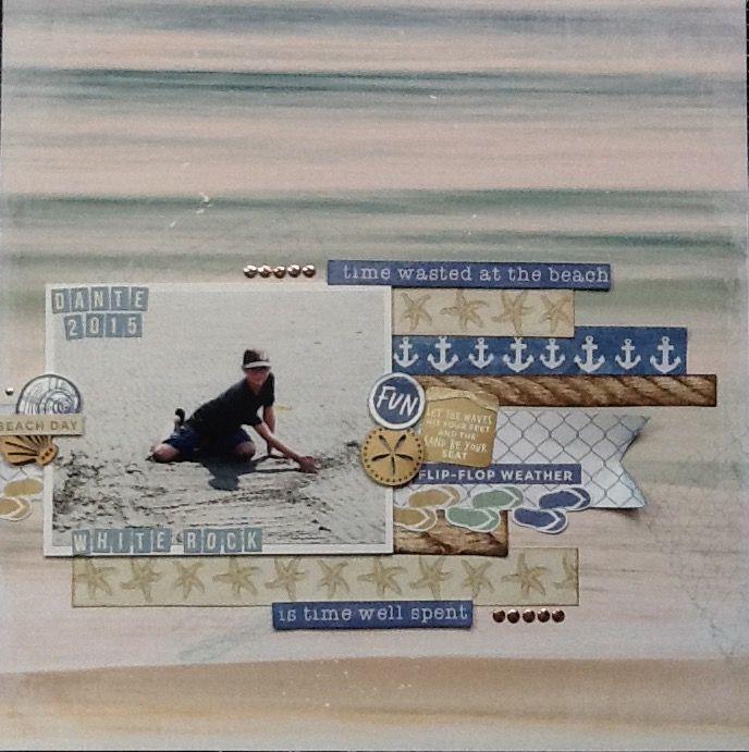 Thank you to Julia Akinina for your inspiration. Kaisercraft Coastal Escape
