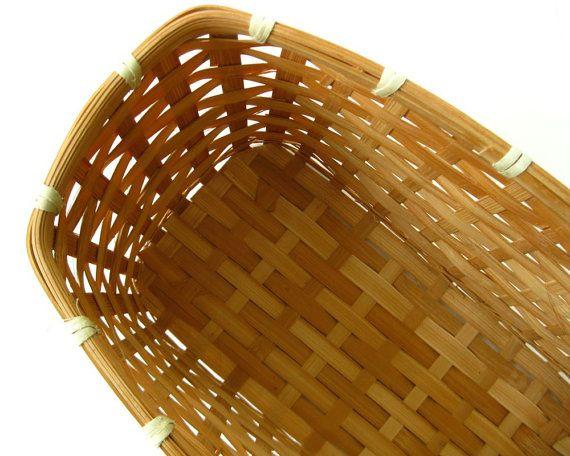 Deep Rectangular Basket Natural Blond Color by KatesChockfullAttic