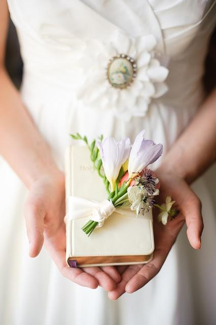bridal bible bouquet