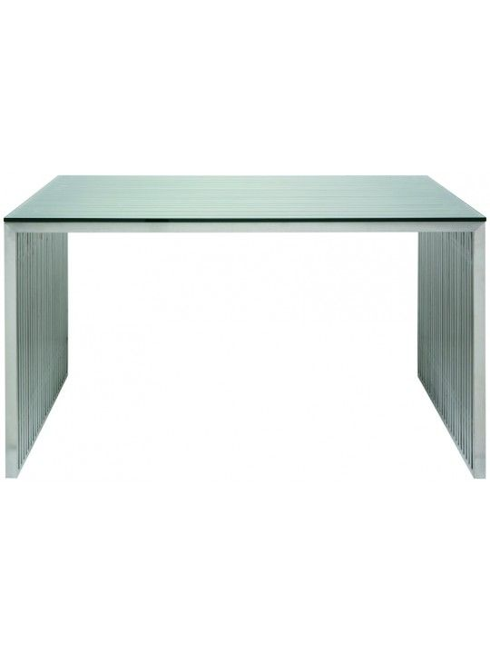 Amici Desk in Stainless by Neuvo Living
