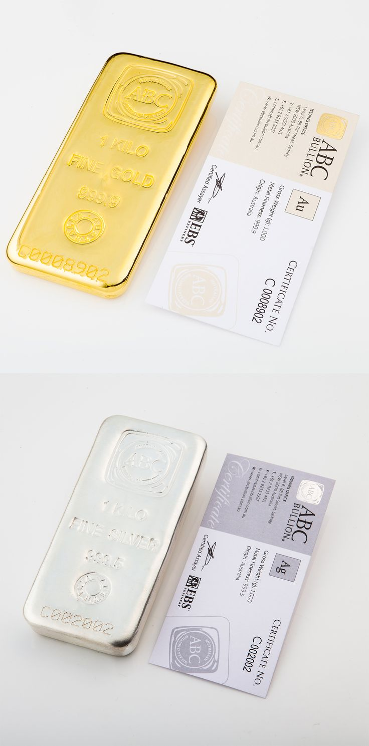 All ABC Bullion gold and silver bars are accredited by a certified assayer. #abcbullion #gold #silver
