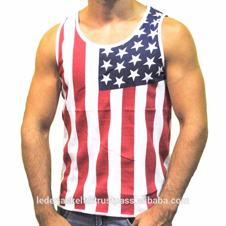 custom USA Flag printed tank top womens slim fit racerback tank tops gym singlet wholesale fitness tank top