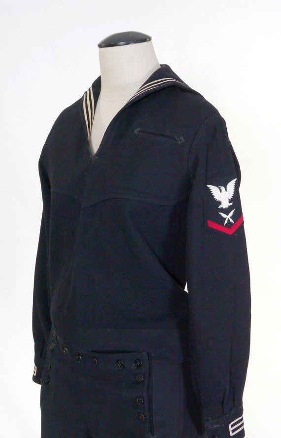 Vintage Wwii U S Navy Dress Blue Service Uniform Top Etsy In 2021 Navy Dress Navy Blue Dresses Us Navy Uniforms