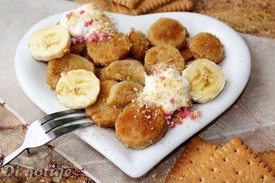 Di gotuje: Banan w panierce herbatnikowej (na ciepło z bitą ś...