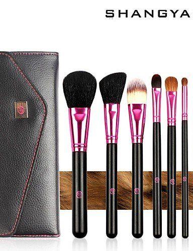 Usw 8pcs Makeup Brushes set Goat/Wool Hair Hypoallergenic