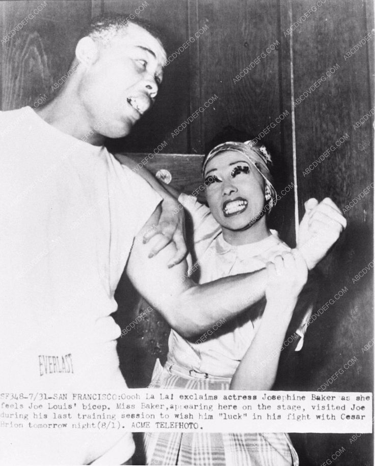 news photo Josephine Baker heavyweight boxing champion Joe Louis 1062-11 Pinterest : @uniquenaja†