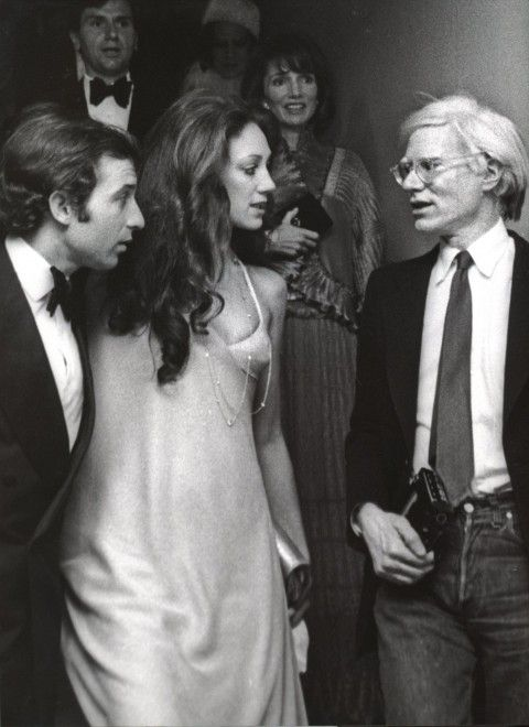 with ricky von opel and andy warhol at studio 54- ron galella