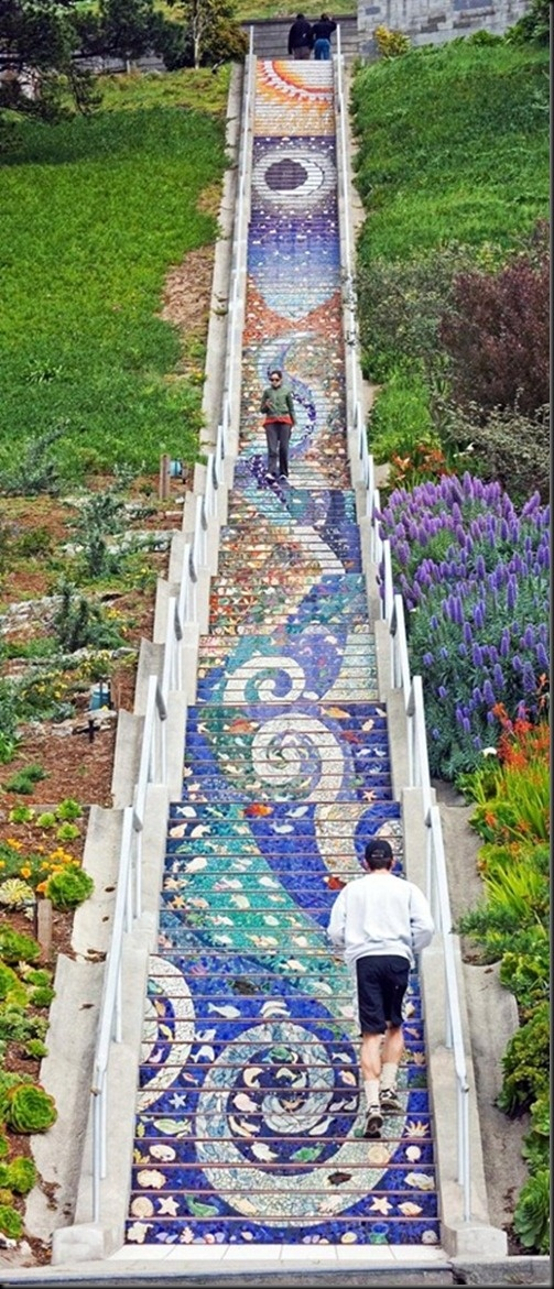 crazy Mosaic Staircase in San Francisco